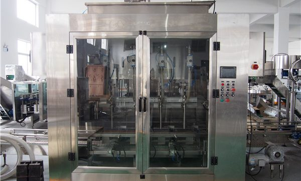 Ang Awtomatikong Pagkaon nga Mupuno sa Pagkaon sa Pagkaon ug Pag-abut sa Olive Oil Packing Machine