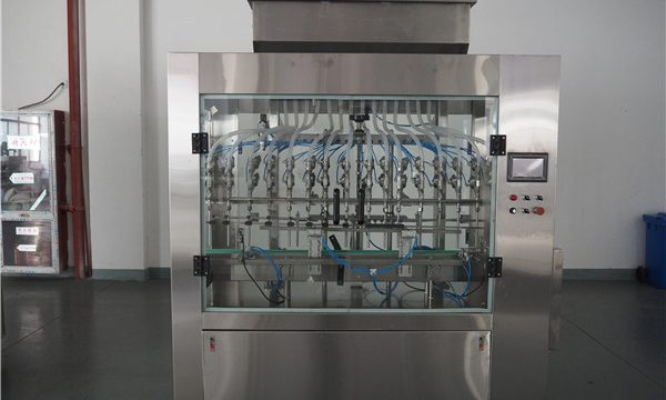 Awtomatikong 12 Heads Atmospheric Pressure Liquid Filling Machine