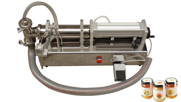 Ang Semi Automatic High Viscosity Lliquid Honey Filling Machine
